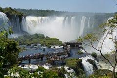 Garganta Del Diablo bei den Iguaçu-Wasserfälle Stockfotos
