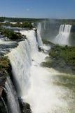 Garganta del Diablo chez les chutes d'Iguaçu Photographie stock libre de droits