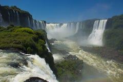 Garganta del Diablo en las cataratas del Iguazú Imágenes de archivo libres de regalías