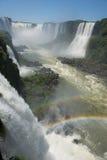 Garganta del diablo at the iguazu falls. The magnificent garganta del diablo at the iguazu falls, one of the seven natural wonders of the world Royalty Free Stock Photo