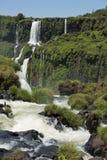 Garganta del diablo at the iguazu falls. The magnificent garganta del diablo at the iguazu falls, one of the seven natural wonders of the world Stock Photo
