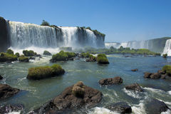 Garganta del diablo at the iguazu falls. The magnificent garganta del diablo at the iguazu falls, one of the seven natural wonders of the world Stock Image