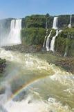 Garganta del diablo at the iguazu falls. The magnificent garganta del diablo at the iguazu falls, one of the seven natural wonders of the world Royalty Free Stock Image