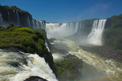 Garganta del diablo at the iguazu falls. The magnificent garganta del diablo at the iguazu falls, one of the seven natural wonders of the world Royalty Free Stock Images