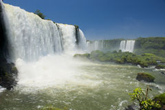 Garganta del diablo at the iguazu falls Stock Photography