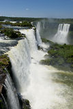 Garganta del diablo at the iguazu falls. The magnificent garganta del diablo at the iguazu falls, one of the seven natural wonders of the world Royalty Free Stock Photography