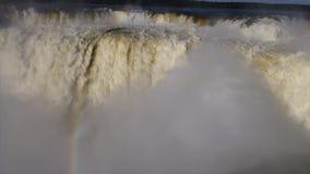 Garganta-del Diablo Iguazu Falls Inside stock video