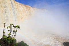 Garganta del Diablo. Iguazu Falls - spectacular waterfalls on Brazil and Argentina border. National park and UNESCO World Heritage Site. Garganta del Diablo seen Royalty Free Stock Photos