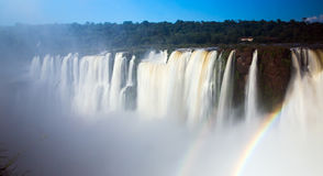Garganta del Diablo waterfall on Iguazu River Royalty Free Stock Photo