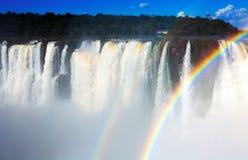 Garganta del Diablo waterfall on Iguazu River. Largest waterfall Garganta del Diablo on Iguazu River, Iguazu National Park, Argentina Royalty Free Stock Photography