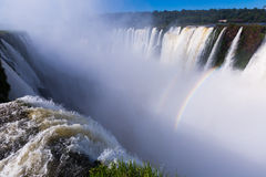 Garganta del Diablo waterfall on Iguazu River Stock Image