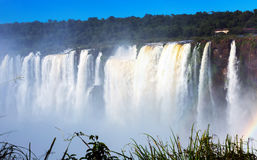Garganta del Diablo waterfall on Iguazu River Stock Photos