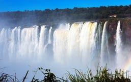 Garganta del Diablo waterfall on Iguazu River. In Iguazu National Park, Argentina Stock Photos