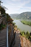 Garganta del río de Colombia, noroeste pacífico, Oregon Foto de archivo