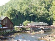 Garganta del río de Nantahala Imagen de archivo libre de regalías