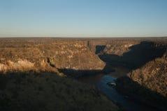 Garganta del río de Zambezi Fotografía de archivo libre de regalías