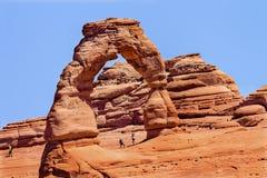 A garganta delicada da rocha do arco arqueia o parque nacional Moab Utá Foto de Stock Royalty Free