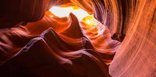 Garganta do antílope, o Arizona, cenário da perspectiva no outono foto de stock royalty free