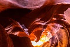 Garganta do antílope, o Arizona, cenário da perspectiva no outono fotos de stock