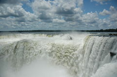 Garganta do diabo de Iguazu fotos de stock