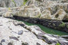 A garganta do diabo em Arda River, Bulg?ria imagem de stock royalty free