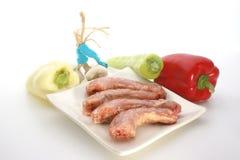 garganta do peru com vegetais em uma placa fotografia de stock royalty free