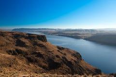Garganta do Rio Columbia, (vista do ponto de opinião da vista de Wanapum), Imagem de Stock