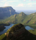 Garganta do rio de Blyde em África Fotos de Stock Royalty Free