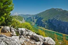 Garganta do rio de Cetina em Croatia fotos de stock