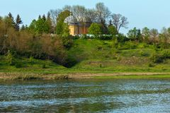 Garganta do rio de Dnister da mola Imagem de Stock