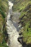 Garganta do rio de Pastaza em Banos, Equador Imagens de Stock