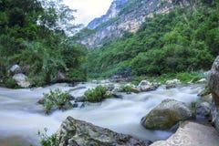 Garganta do rio de Venta do La em Chiapas, México Fotografia de Stock