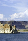 Garganta do vale e lago Powell fotografia de stock