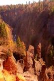 Garganta do vulcão Imagens de Stock