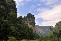 Garganta e montanhas Fotos de Stock Royalty Free