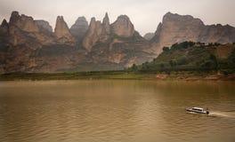 Garganta Gansu China do reservatório de Liujiaxia Fotos de Stock