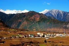 Garganta grande de Nujiang da cidade Fotografia de Stock Royalty Free