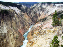 Garganta grande de Yellowstone Foto de Stock Royalty Free