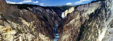 Garganta grande do Yellowstone Fotografia de Stock Royalty Free