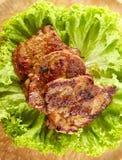Garganta grelhada da carne de porco Fotos de Stock