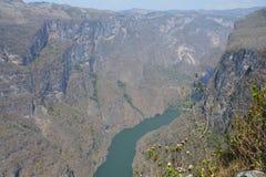 A garganta impressionante de Sumidero em Chiapas México imagens de stock royalty free