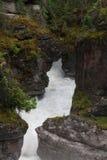 Garganta Jasper National Park de Maligne - imagem conservada em estoque Fotos de Stock Royalty Free