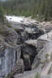 Garganta Jasper National Park de Maligne - imagem conservada em estoque Fotos de Stock