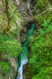A garganta Mostnica com água claro Foto de Stock