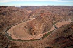 Garganta Namib do rio dos peixes. fotos de stock royalty free