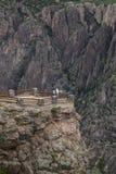 Garganta preta do parque nacional de Gunnison, perto de Montrose, Colorado, EUA Imagens de Stock