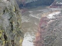 Garganta torcida del río Fotografía de archivo libre de regalías