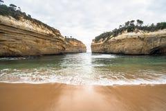 Garganta una del paisaje icónico de la atracción a lo largo del camino del gran camino del océano, Victoria, Australia de Ard del Foto de archivo