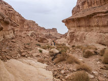 Garganta usada como o lugar do filme para Indiana Jones e Star Wars dentro Foto de Stock