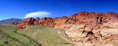 Garganta vermelha da rocha Foto de Stock